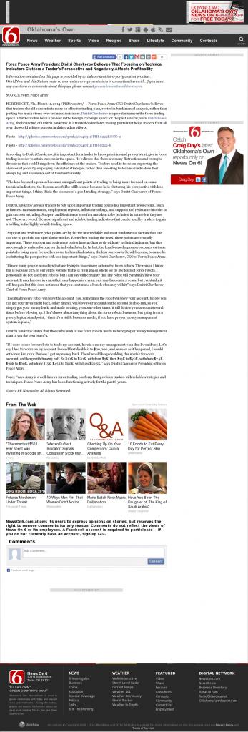 Forex Peace Army - KOTV-TV CBS-6 (Tulsa, OK)- Sound Trading Plan