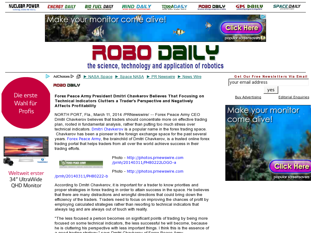 Forex Peace Army - Robo Daily- Sound Trading Plan