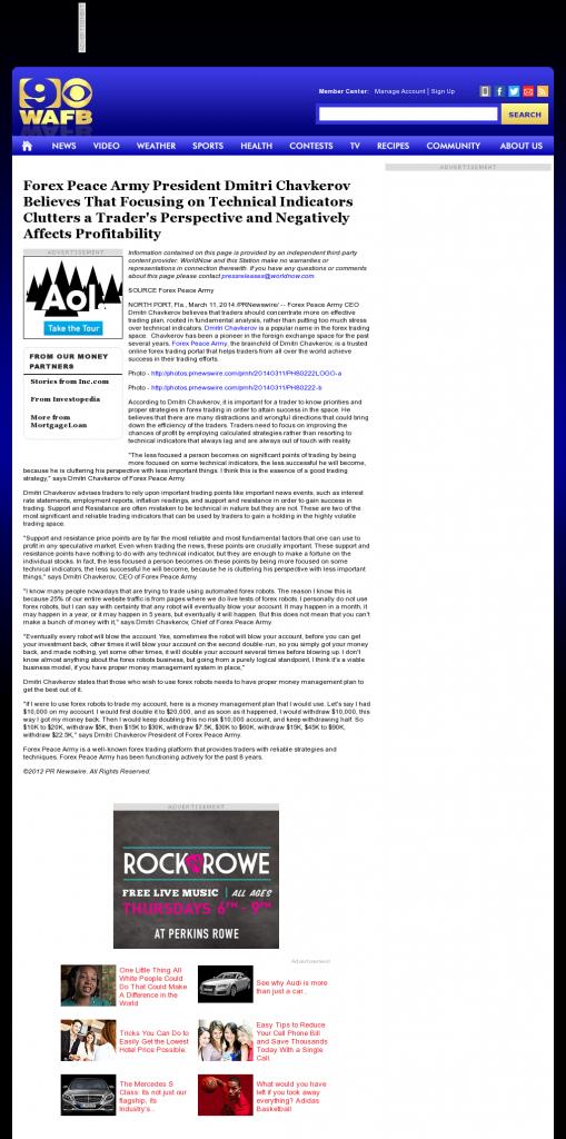 Forex Peace Army - WAFB CBS-9 (Baton Rouge, LA)- Sound Trading Plan