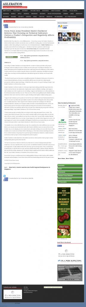 Forex Peace Army - Axleration- Sound Trading Plan