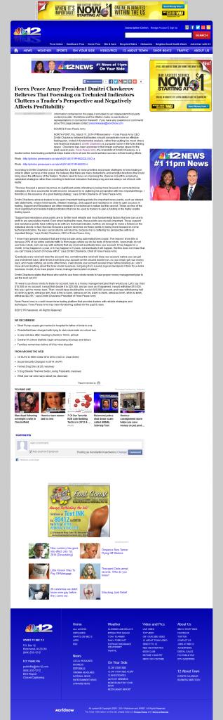 Forex Peace Army on NBC12 News