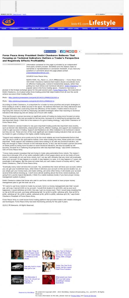 Forex Peace Army - KSTC-TV IND-45 (Saint Paul, MN)- Sound Trading Plan