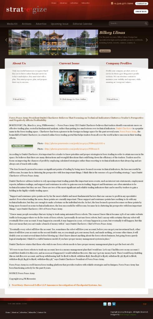 Forex Peace Army - Strategize Magazine- Sound Trading Plan