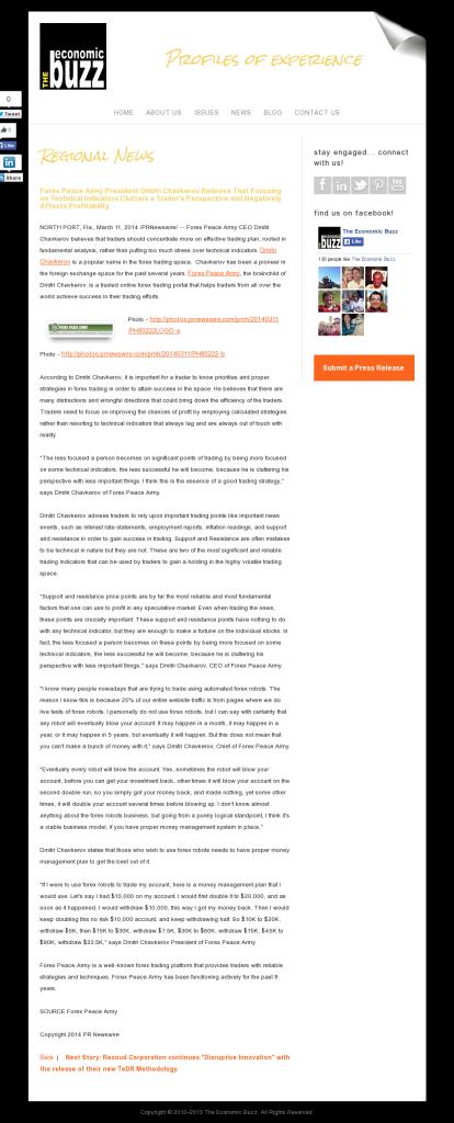 Forex Peace Army - The Economic Buzz- Sound Trading Plan