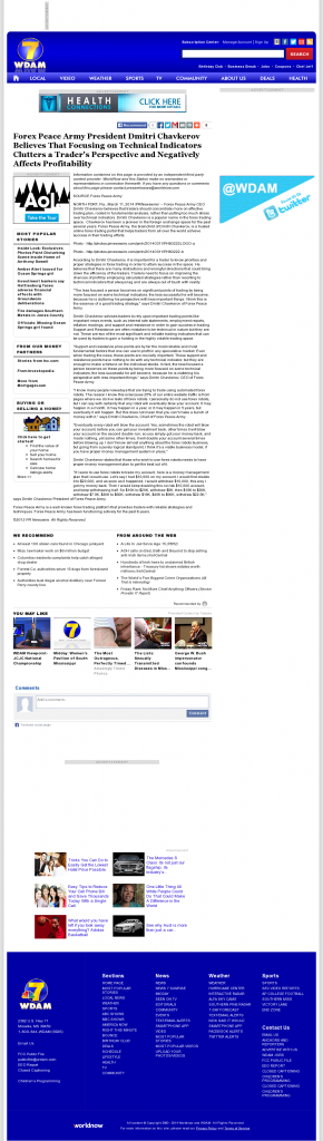 Forex Peace Army - WDAM NBC-7 (Hattiesburg-Laurel, MS)- Sound Trading Plan