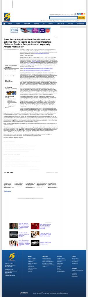 Forex Peace Army - WMC NBC-5 (Memphis, TN)- Sound Trading Plan