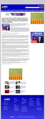 Forex Peace Army -  WWBT NBC-12 (Richmond, VA) - Sound Trading Plan